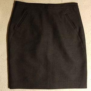 New Ann Taylor LOFT Petites Gray Skirt Sz 4P